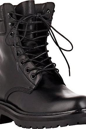 New Handmade Men Black Leather Boot, Men Military Style Lace Up Leather Boot, Men ankle high boot