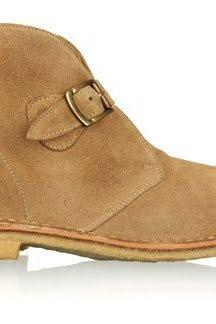 New Handmade men monk strap tan color chukka boot, Mens suede boot, Men leather boot